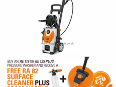 PROMO Stihl RE129 Plus Cold Water High Pressure Cleaner with Integrated Hose Reel
