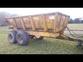 Marston 10ton Dump Trailer